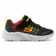 SportCipő SKECHERS Texlor fekete-piros-sárga tépőzárral állítható 403770L/BKRD Black/Red , mosogépbe mosható