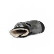 D.D.Step Vízlepergető ezüst-fekete, téli, bélelt kislány csizma nyuszifül mintával