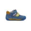 """D.D.Step  """"Barefoot"""" nyitott Kisfiú szandál cipő két tépőzáras kék - okkersárga"""