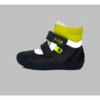 Ponte20 Szupinált kisfiú magas szárú cipő szürke-kék-sárga , két tépőzáras,vissza korrigálja a boka bedőlését
