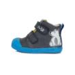 Ponte20 Szupinált kisfiú magas szárú cipő szürke.kék,két tépőzárral állítható jegesmedve mintával, normál és széles lábra is jó