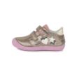 Ponte20 Szupinált óarany - rózsaszín két tépőzáras kislány  bokacipő csillag és szívecske mintával