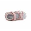 Ponte20 Szupinált halvány rózsaszín két tépőzáras lány szandál virág és szívecske diszítéssel  ,keskeny lábra is jó
