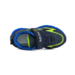 """D.D.Step fiú """"világító"""" sportcipő,kék-uv zöld ,két tépőzárral állítható, vízlepergető"""