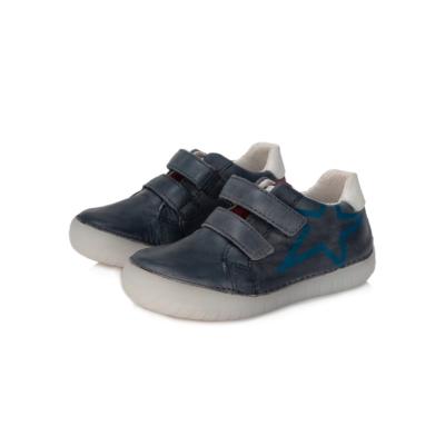 D.D.step világító talpú két tépőzáras fiú bőr cipő