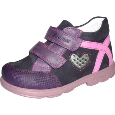 Szamos szupinált lila-rózsaszín két tépőzáras lány cipő