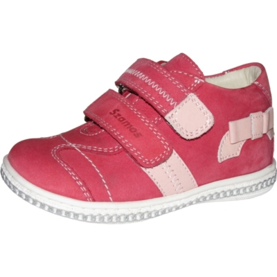 Szamos-pink-rózsaszín két tépőzáras lány cipő masnival