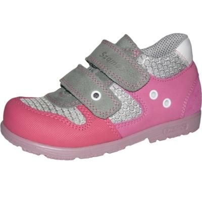 Szamos szupinált szürke-rózsaszín sport cipőre hasonlító lány cipő, keskeny lábra