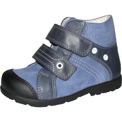 Szamos szupinált szürke-kék két tépőzáras fiú cipő