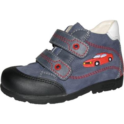 Szamos kék-fehér két tépőzáras fiú cipő kis autó mintával