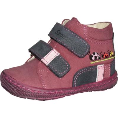 Szamos bordó-mályva két tépőzáras első lépés lány cipő bagoly mintával