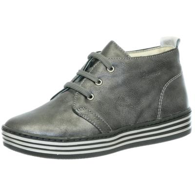 Szamos fekete-antikolt utcai lábbeli fűzős magas szárú lány,női cipő