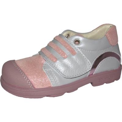 Szamos szupinált szürke-rózsaszín egy tépőzáras lány cipő