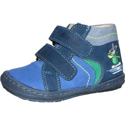 Szamos kék-zöld két tépőzáras fiú első lépés cipő hajózó egérkével