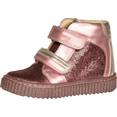 Szamos csillogó pink-ezüst két tépőzáras magas szárú vizlepergető, lány cipő