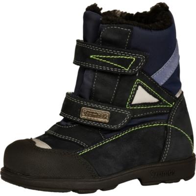 Szamos szupinált fekete két tépőzáras magas szárú téli ,bélelt, texes, vízálló nagyfiús bakancs ,cipő