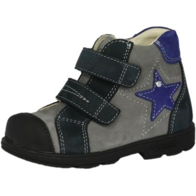 Szamos Szupinált fiú supinált átmeneti szürke- kék cipő csillag mintával , két tépőzárral állítható