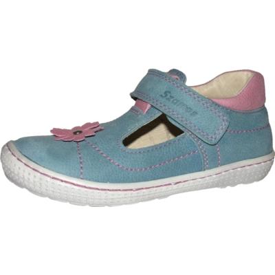 Szamos szupinál kék-pink szandálcipő balerina virág mintával