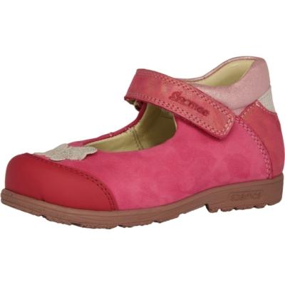 Szamos, szupinált , koral színű, pillangóval díszített tavaszi gyerekcipő lányoknak.