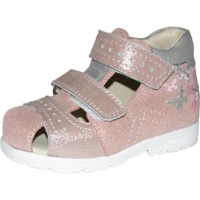 Szamos szupinált rózsaszín-ezüst lány cipő , pillangóval hímzett
