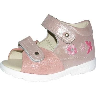 Szamos szupinált rózsaszín-ezüst lány cipő virággal és pillangóval hímzett