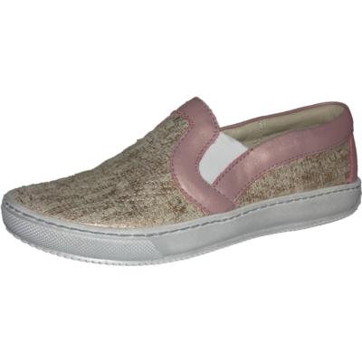 Szamos arany-rózsa csillogó slip on lány cipő