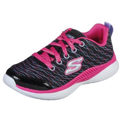 Skechers fekete-pink lány memóriahabos sport cipő