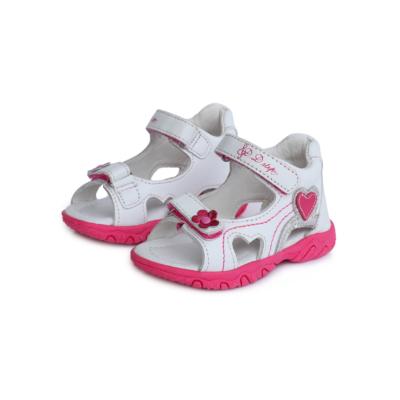 D.D.step fehér rózsaszín lány két tépőzáras szandál szívecskével