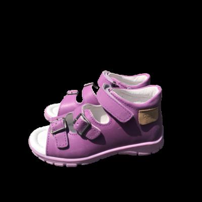 Ponte20 Szupinált levendula lila-rózsaszín lány szandál .Tépőzárral és csattal szabályozható, kívül-belül bőr gyerek szandál normál és széles lábra is jó