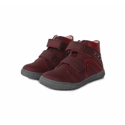 Ponte20 szupinált bordó magas szárú lány cipő